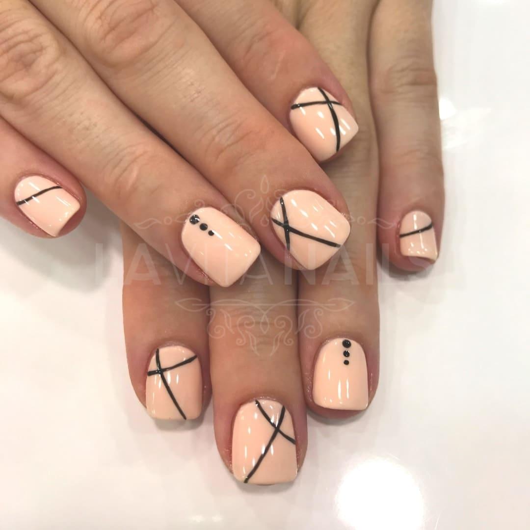 manicura nail art detalles geométricos
