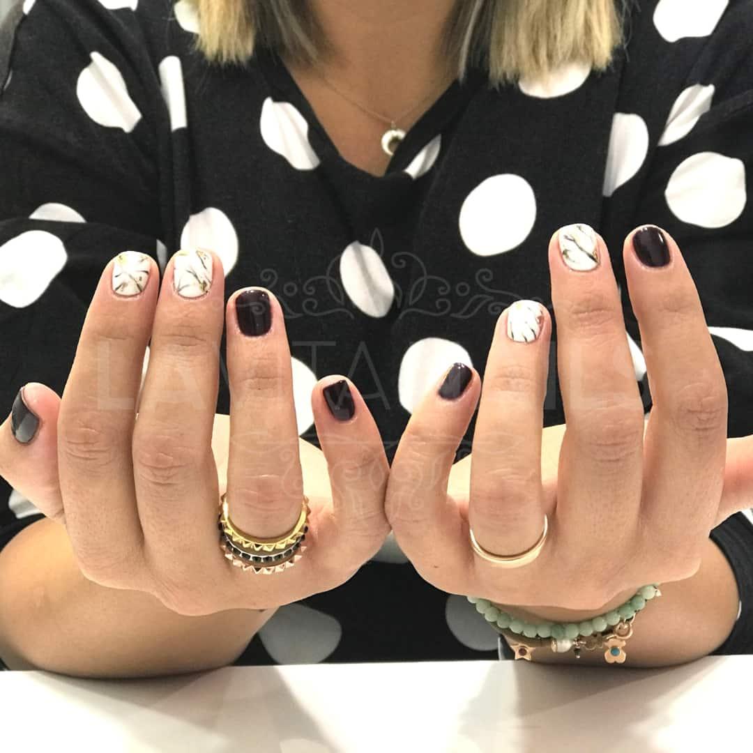 manicura nail art efecto marmol
