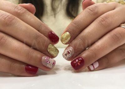 manicura-zaragoza-la-vita-nails-navidad-galleta-caramelo